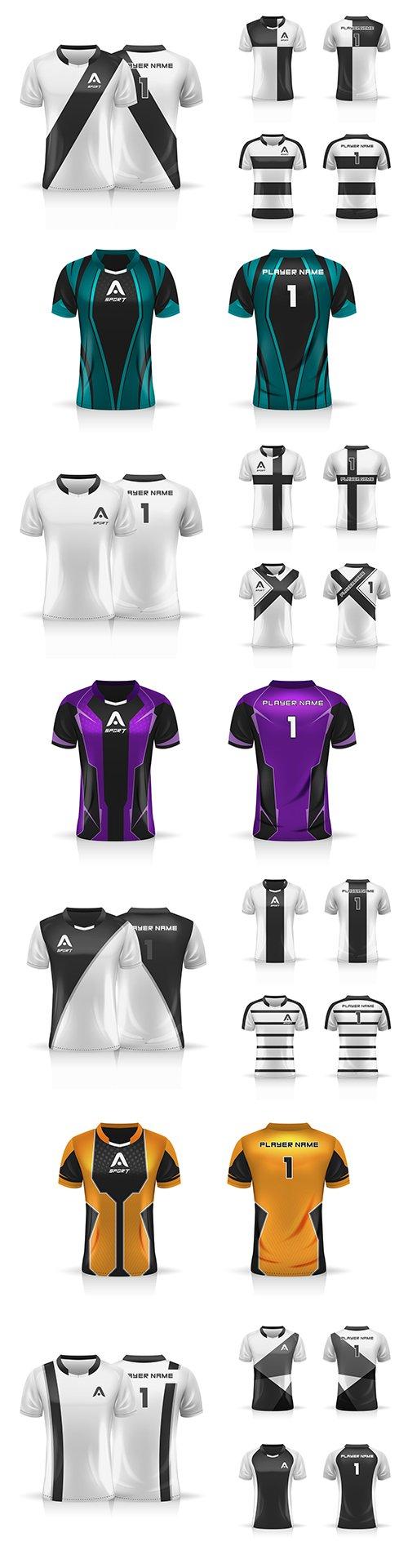Specification football sports, T-shirt uniform template