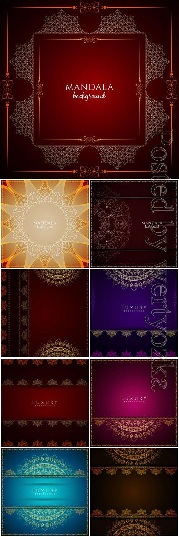 Luxury mandala vector background