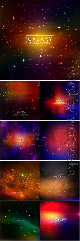 Abstarct modern galaxy vector background
