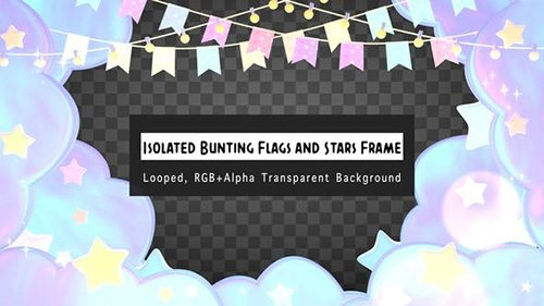 Isolated Pastel Bunting Flags And Stars Frame 25820820