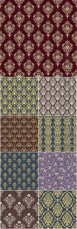 Vector flower seamless pattern, elegant texture