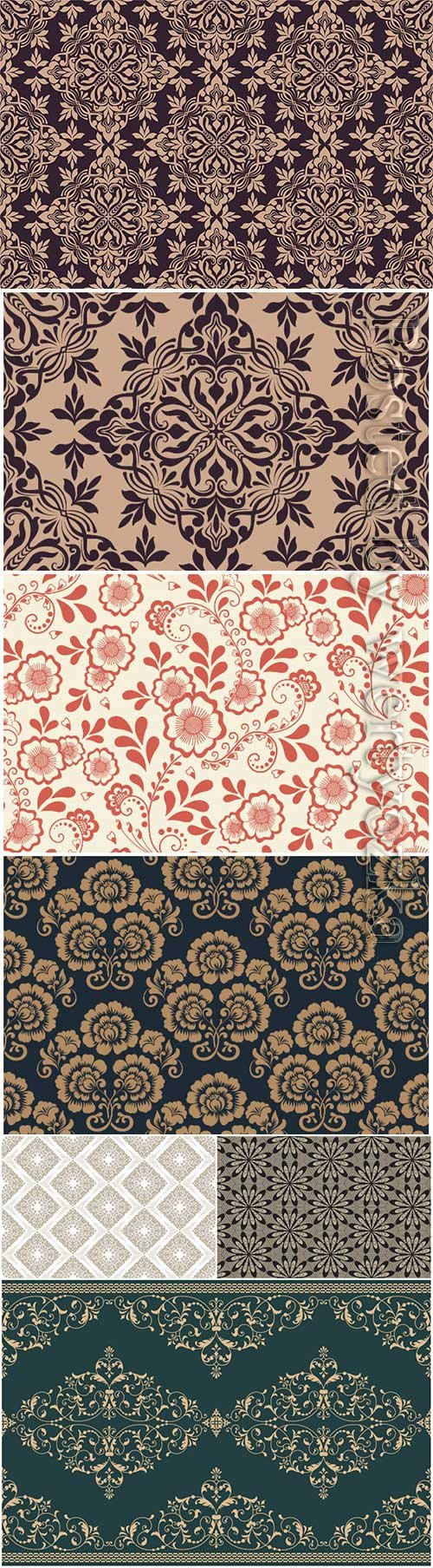 Vector floral seamless pattern element arabian style