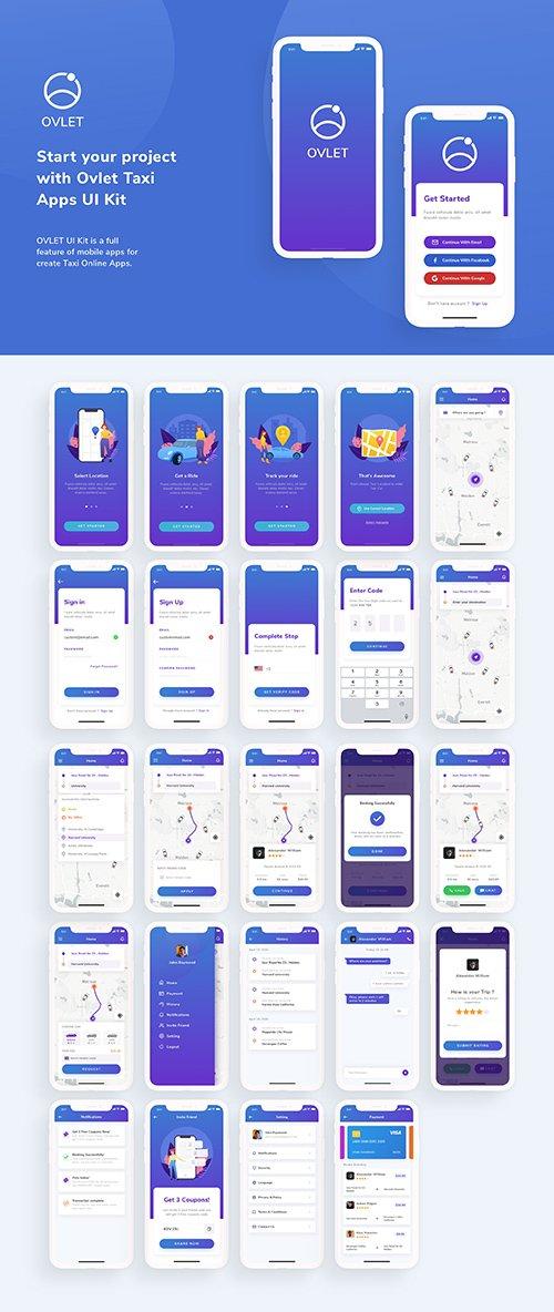 OVLET - Taxi Mobile App UI Kit