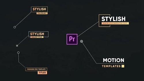Stylish Callout Titles-Premiere Pro 26542055
