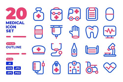 Medical Icon Set (Outline)