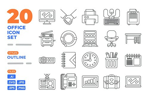 Office Icon Set (Outline)