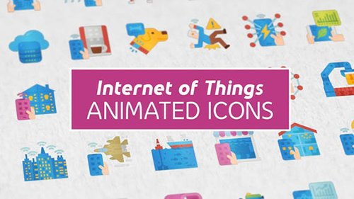 Internet of Things Modern Flat Animated Icons 26444338