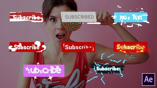 Subscribe Buttons | After Effects 26570084