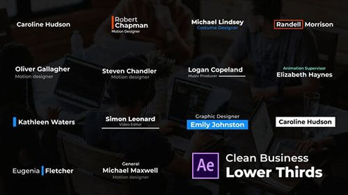 Clean Business Lower Thirds 26577925