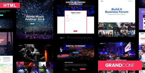 ThemeForest - Grand Conference c1.0 - Event HTML Template - 25116971