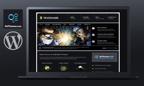 Ait-Themes - Trademark v1.13 - Dark Classic WordPress Theme