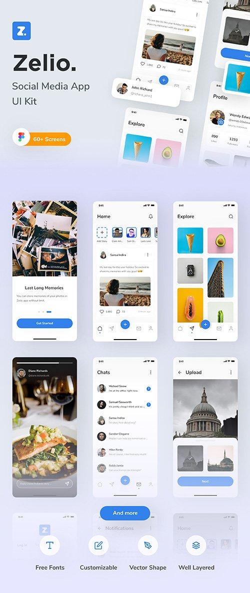 Zelio - Social Media App UI Kit