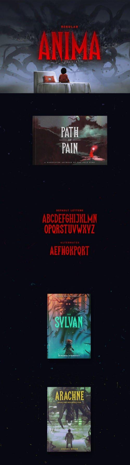Anima Regular Font