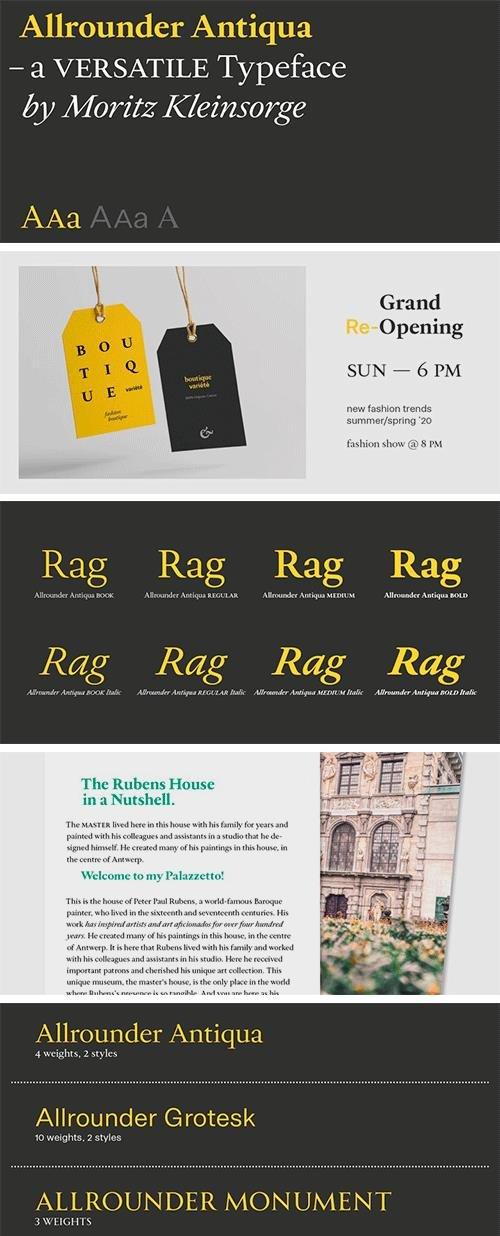 Allrounder Antiqua Font Family