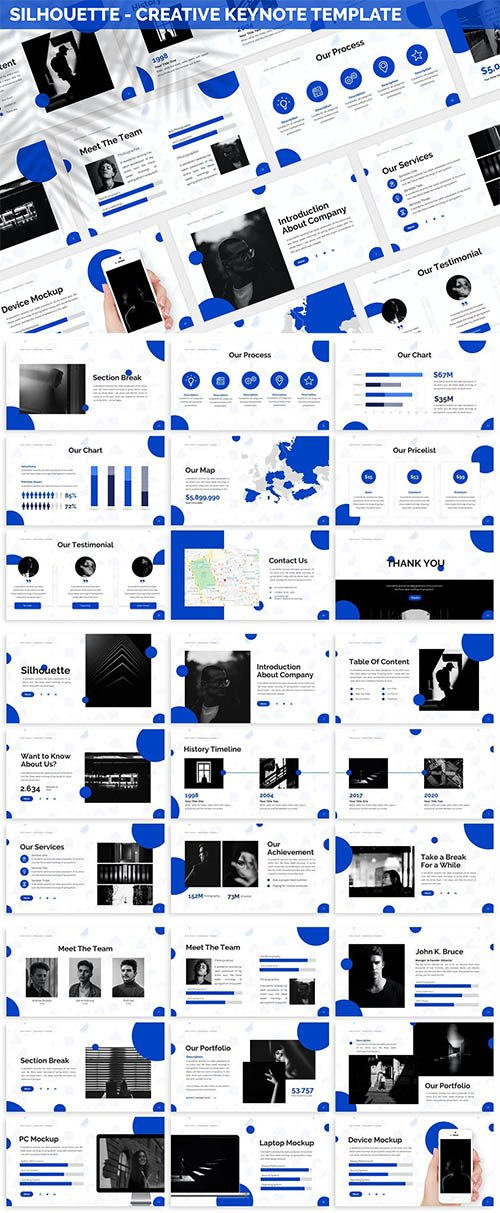 Silhouette - Creative Keynote Template