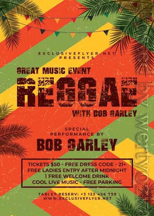Reggae - Premium flyer psd template