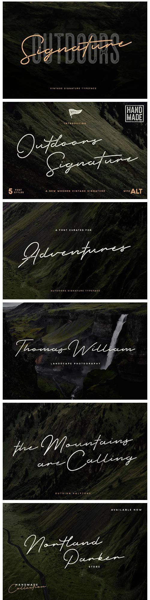 Outdoors Signature Font