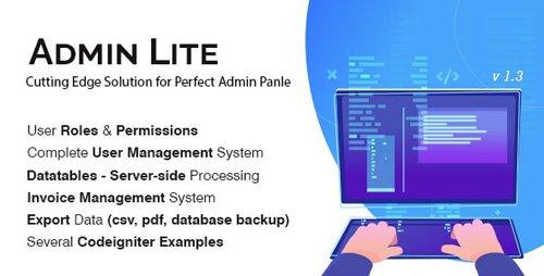 CodeCanyon - Admin Lite v2.1 - PHP Admin Panel + User Management - 21136710