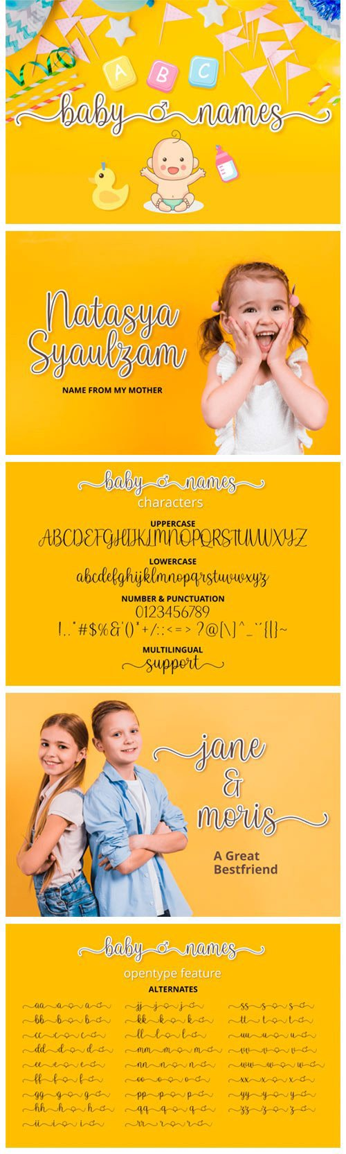 Baby Names Font
