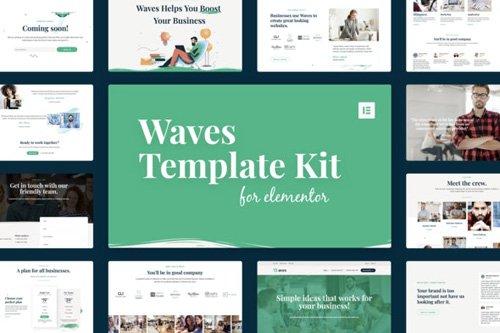 ThemeForest - Waves v1.0 - Startup Agency Elementor Template Kit - 25956788