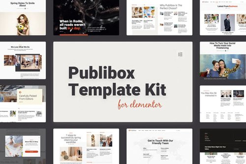 ThemeForest - Publibox v1.0 - Blog, News & Magazine Elementor Template Kit - 26056109