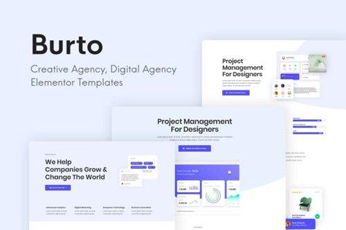 ThemeForest - Burto v1.0 - Saas & Digital Agency Elementor Templates - 26377328