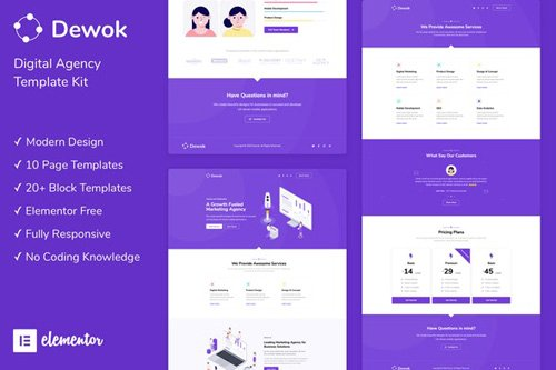 ThemeForest - Dewok v1.0 - Digital Agency Template Kit - 26521251