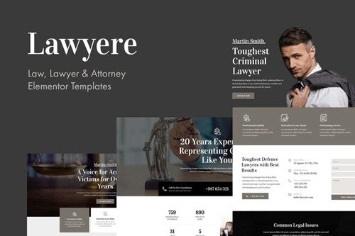 ThemeForest - Lawyere v1.0 - Legal & Attorney Template Kit (Update: 12 May 20) - 26164000