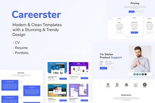 ThemeForest - Careerster v1.0 - CV/Resume Elementor Templates (Update: 23 April 20) - 25950036