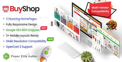 ThemeForest - BuyShop v1.0.2 - Responsive & Multipurpose OpenCart 3 Theme with Mobile-Specific Layouts - 22133122