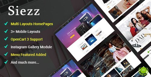 ThemeForest - Siezz v1.0.0 - Multi-purpose OpenCart 3 Theme ( Mobile Layouts Included) (Update: 3 January 20) - 21274391