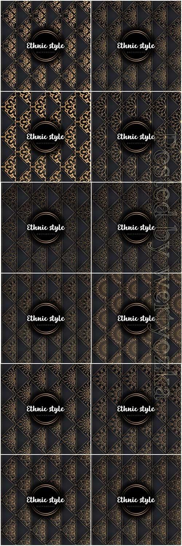 Luxury seamless pattern mandala, gold vector ornaments # 5