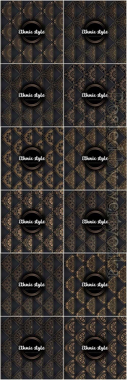 Luxury seamless pattern mandala, gold vector ornaments # 6