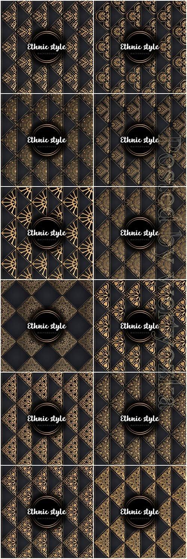 Luxury seamless pattern mandala, gold vector ornaments # 2