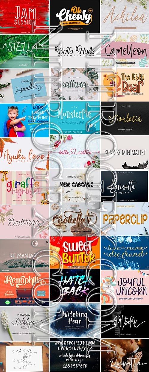 Big Super Fonts Pack 2020 Vol 1