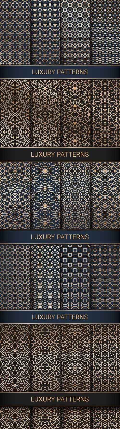 Luxury seamless decorative patterns for creativity