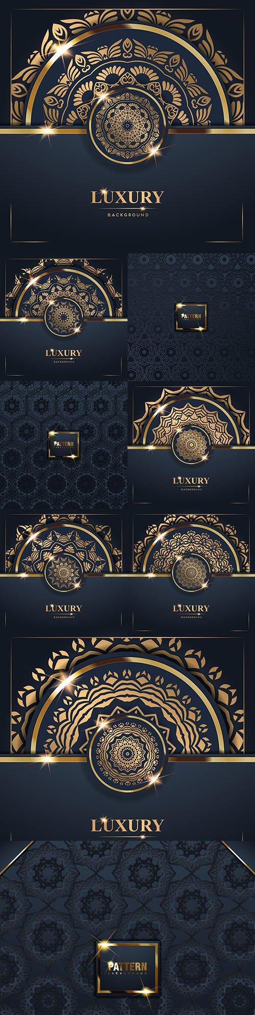Mandala luxury gold decorative background