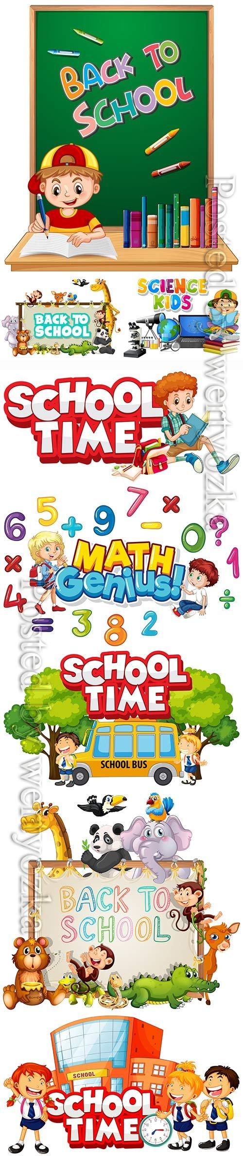 School time vector design