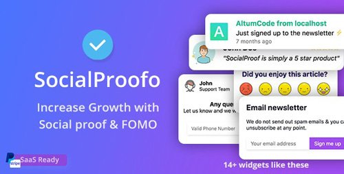 CodeCanyon - Social Proof v1.7.5 - 14+ Social Proof & FOMO Notifications for Growth (SaaS Ready) - 24033812 - NULLED