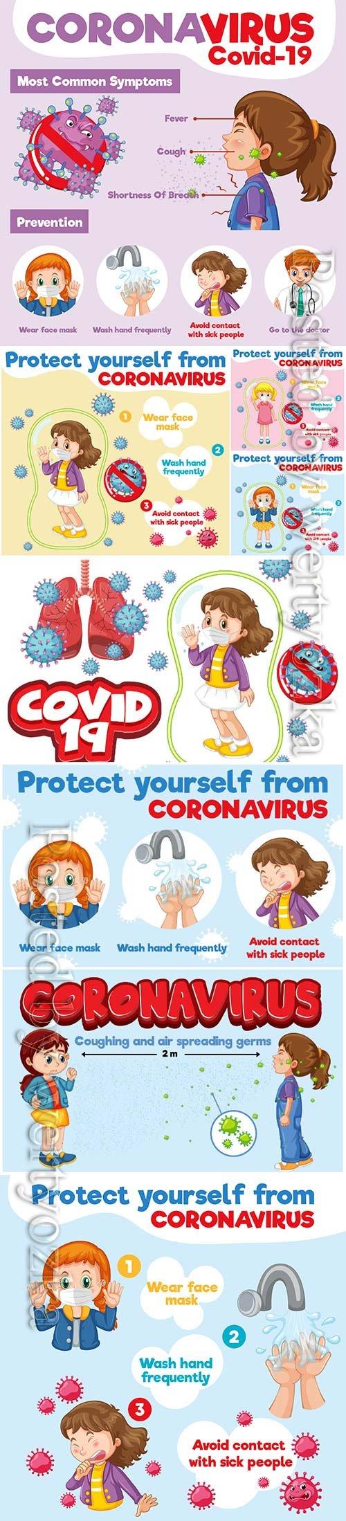 Coronavirus, medicine and people concept vector # 8