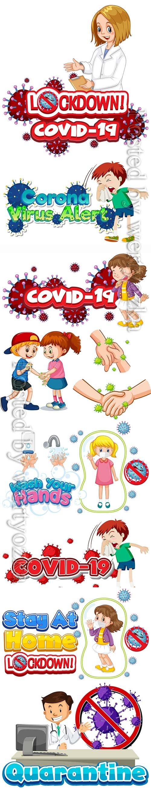 Coronavirus, medicine and people concept vector # 5