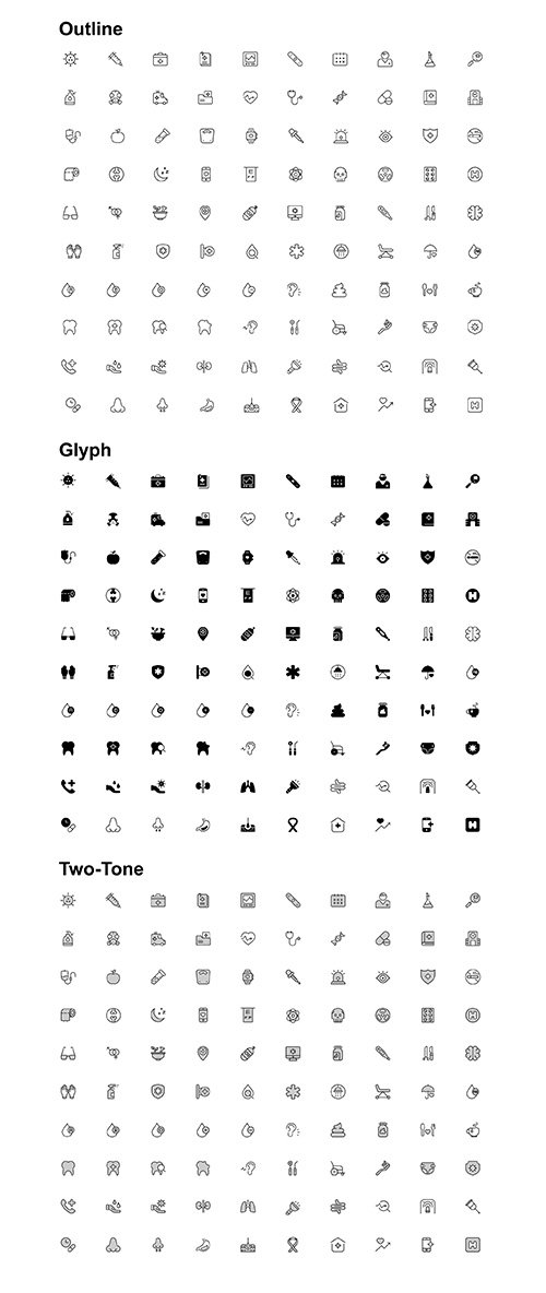 Medical and Health iconset