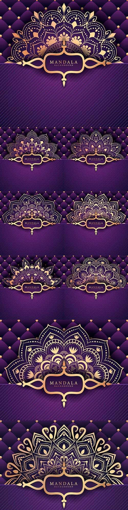 Luxury mandala decorative ethnic background element