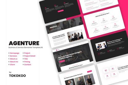 ThemeForest - Agenture v1.0 - Agency Elementor Template Kit - 26339862