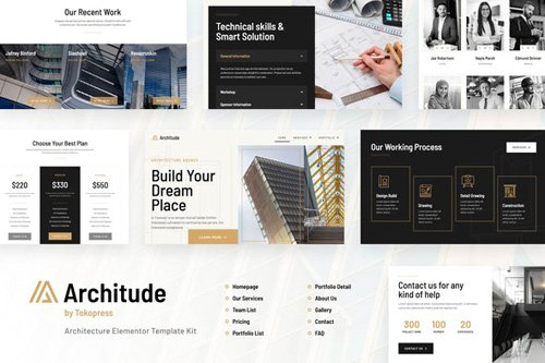 ThemeForest - Architude v1.0 - Architecture Elementor Template Kit - 26128002
