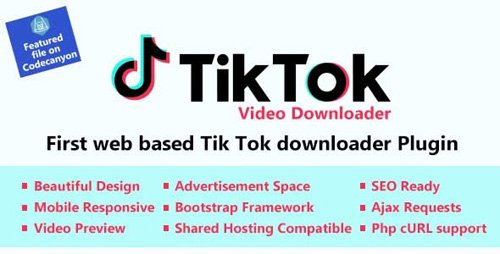 CodeCanyon - TikTok Video and Music Downloader with no Watermark v1.0 - 26284627