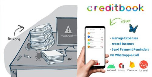 CodeCanyon - CreditBook v1.0 - Start Online Credit Android App | PHP Backend - 25484951 - NULLED