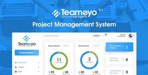 CodeCanyon - Teameyo v2.1 - Project Management System - 23142804