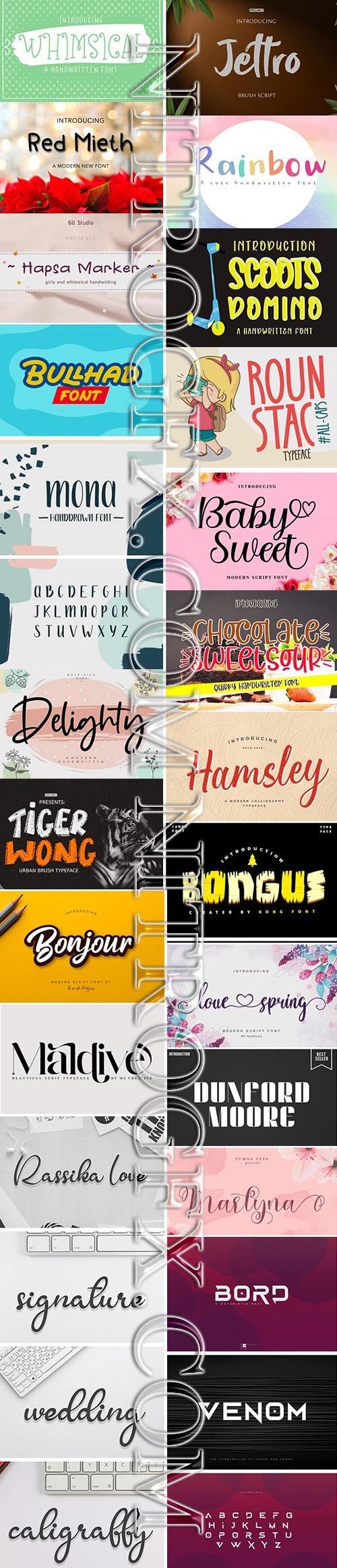 Big Super Fonts Pack 2020 Vol 2