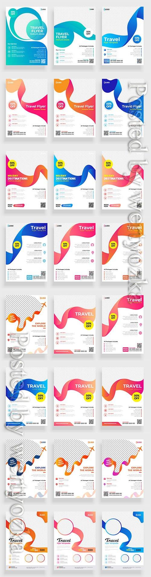 Business flyer template design, brochure vector illustration # 10
